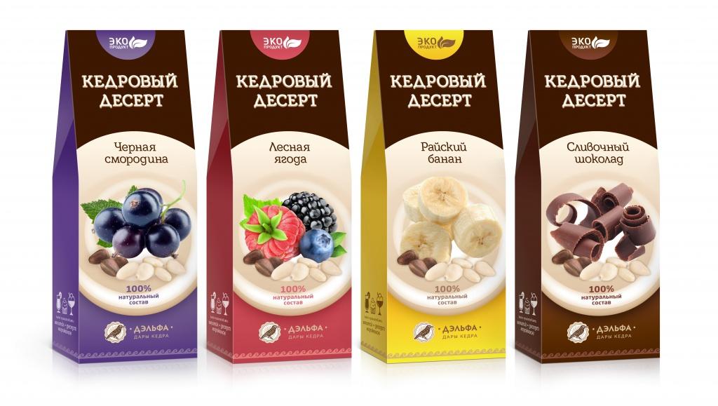 Четыре новых продукта – Кедровые десерты от компании Дэльфа, в октябре месяце 2017 года пополнят каталог компании Арго.